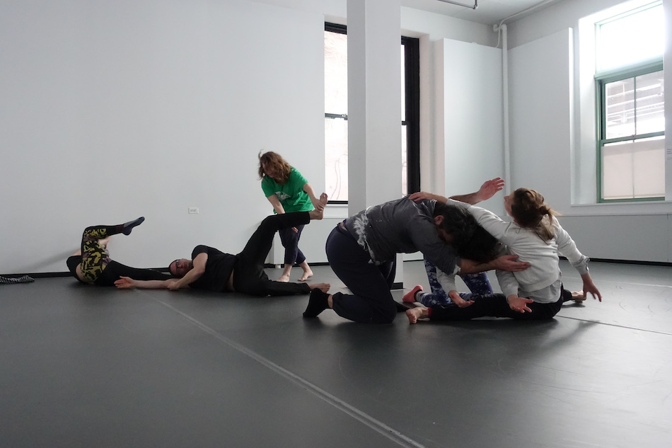 Photos of participants dancing in LIMINAL BODIES workshop  at ComeUnion Fall Festival 2019